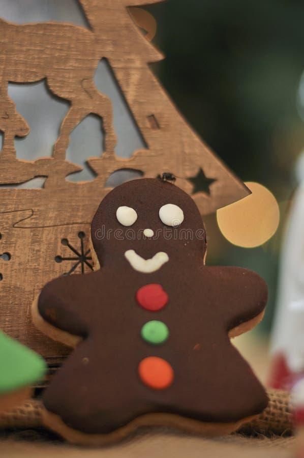 Galletas con diseño especial de la Navidad imagen de archivo libre de regalías