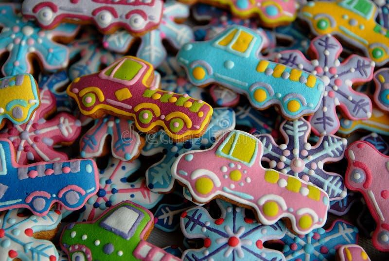Galletas de azúcar de la Navidad fotografía de archivo