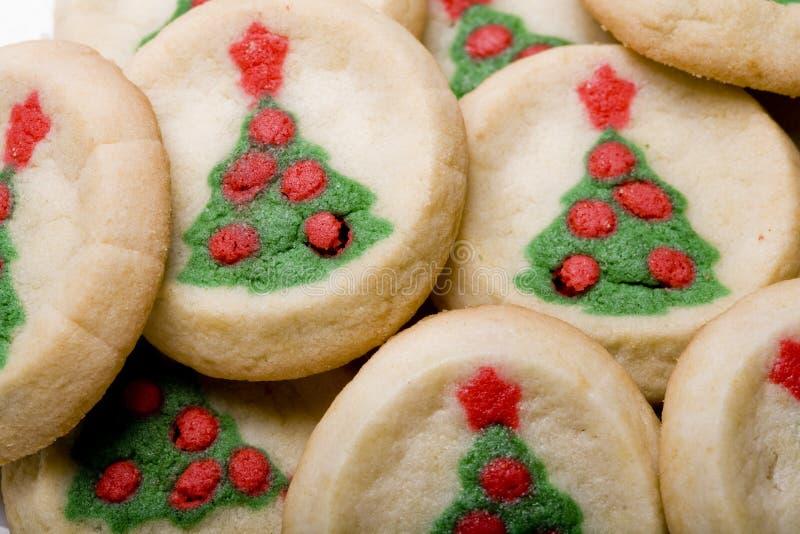 Galletas de azúcar del árbol de navidad foto de archivo