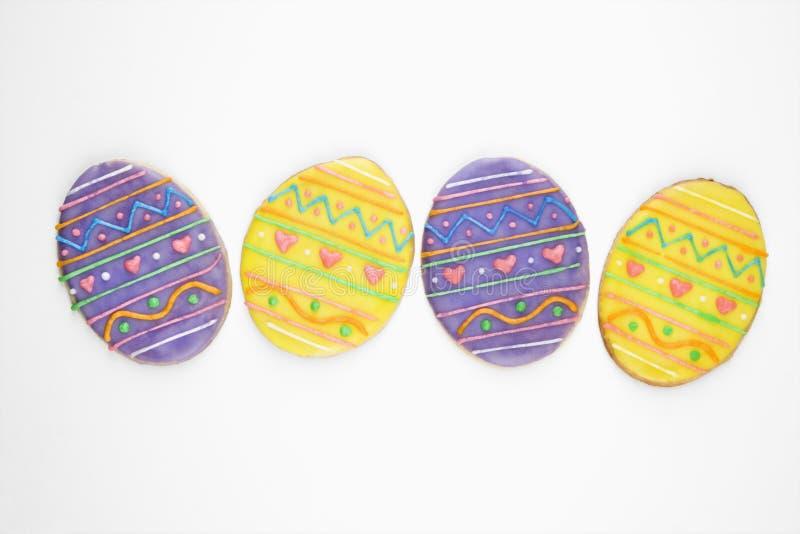 Galletas de azúcar del huevo de Pascua. fotografía de archivo libre de regalías