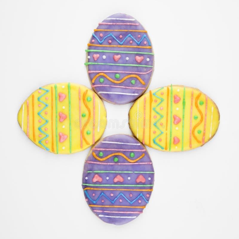 Galletas de azúcar del huevo de Pascua. imagen de archivo