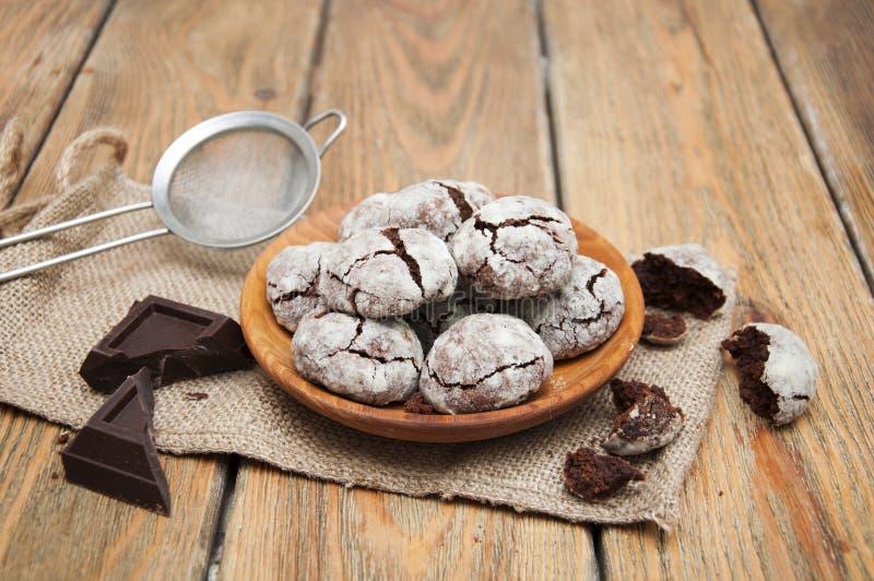 Galletas de Chocolade imagen de archivo