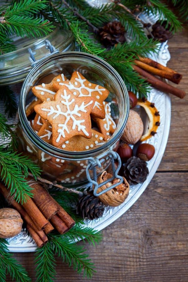 Galletas de Ginger Christmas imagen de archivo libre de regalías