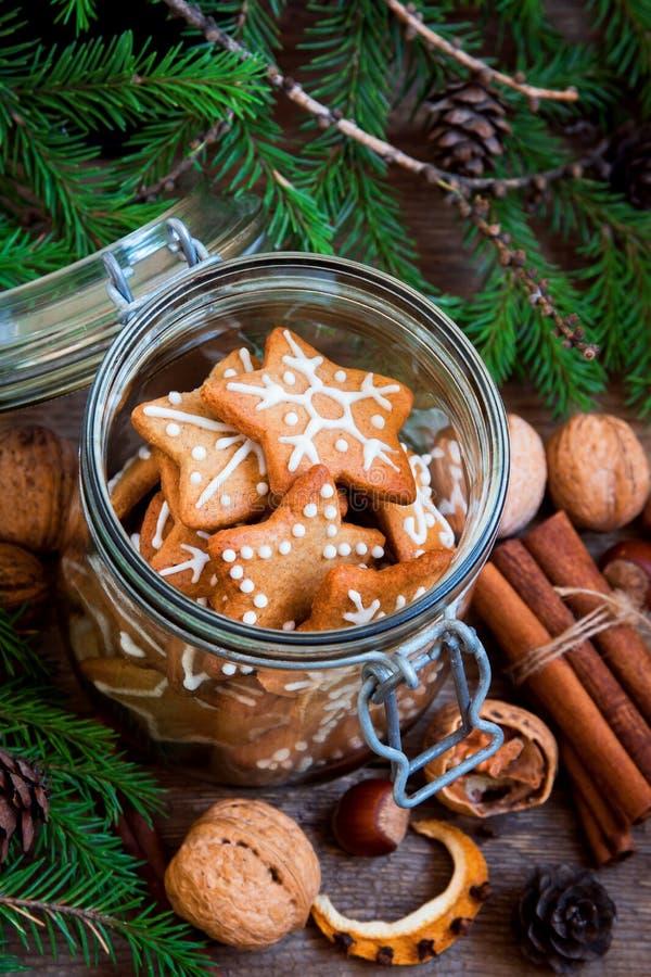 Galletas de Ginger Christmas foto de archivo