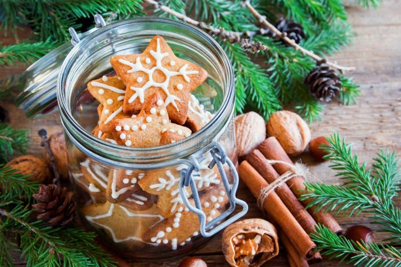 Galletas de Ginger Christmas imagenes de archivo
