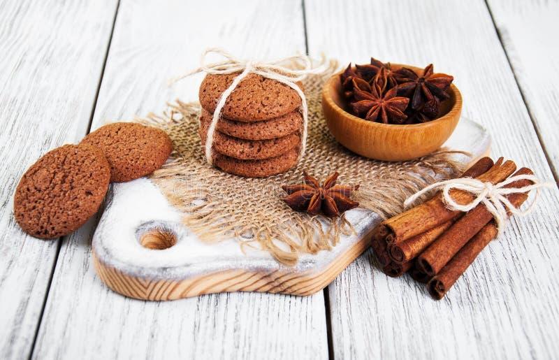 Galletas de harina de avena sanas imagen de archivo