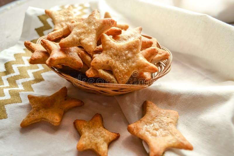 Galletas de la estrella de la Navidad fotografía de archivo libre de regalías