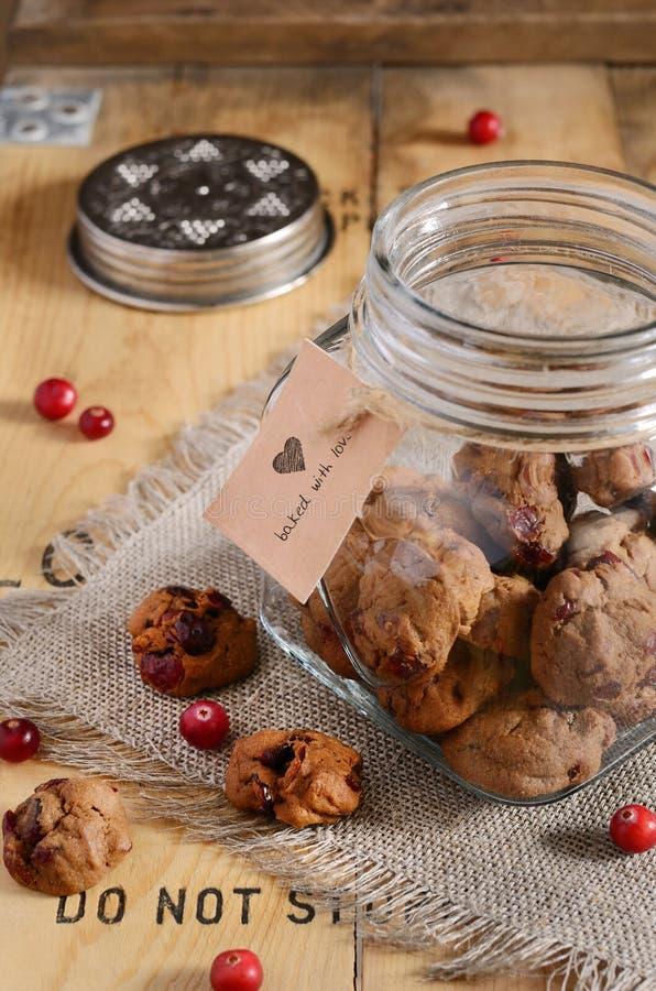 Galletas de la mantequilla con el arándano secado imágenes de archivo libres de regalías