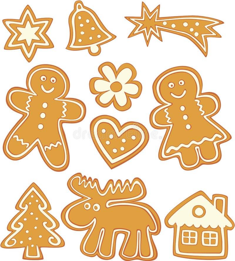 Galletas de la Navidad ilustración del vector