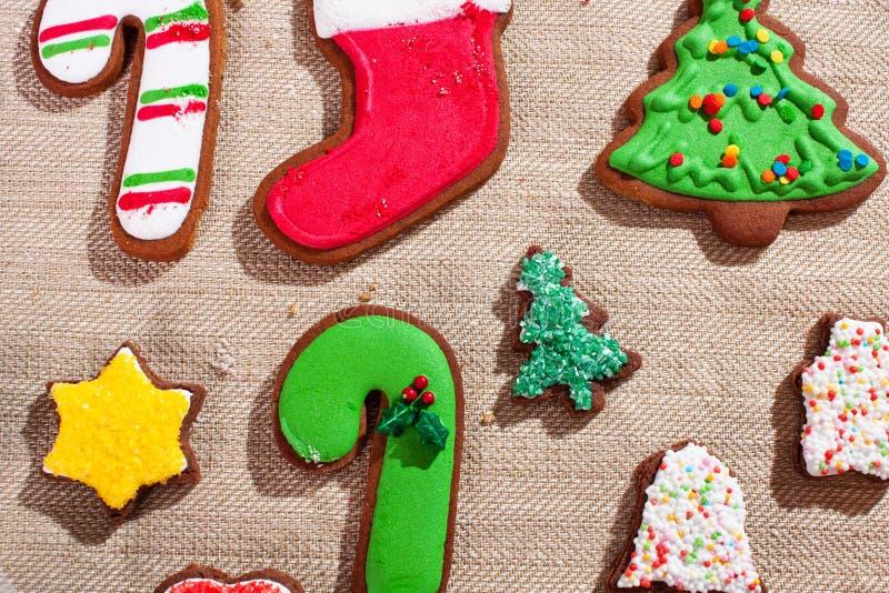 Galletas de la Navidad de los niños foto de archivo libre de regalías