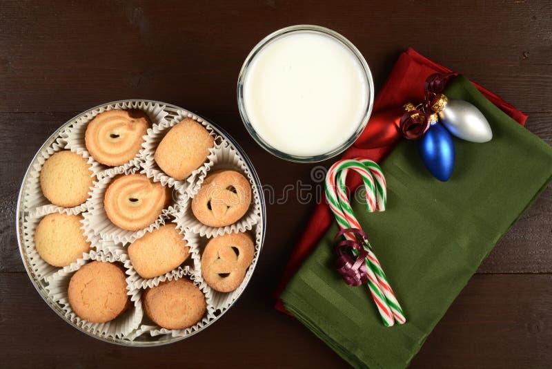 Galletas de mantequilla en la Navidad fotografía de archivo