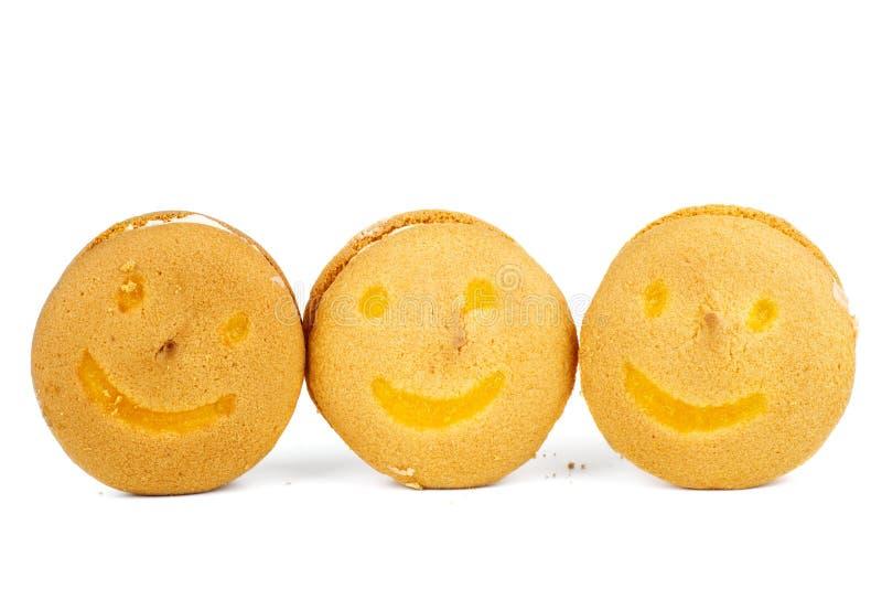 Galletas de mantequilla sonrientes imágenes de archivo libres de regalías