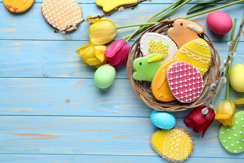 Galletas de Pascua fotografía de archivo