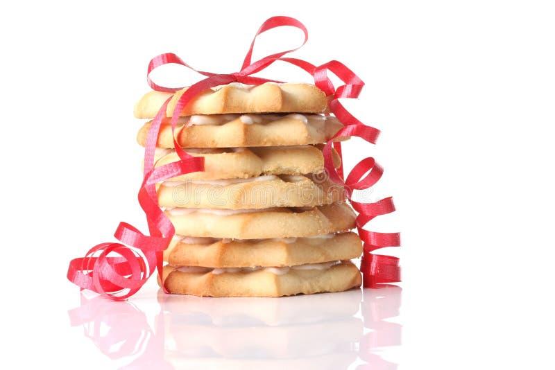Galletas de torta dulce de la Navidad foto de archivo