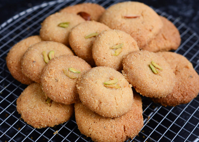 Galletas de torta dulce Nankhatai-indias fotos de archivo