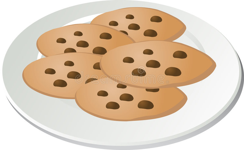 Galletas de viruta de chocolate ilustración del vector