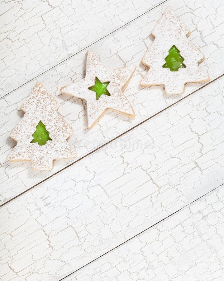 Galletas del árbol de navidad imagenes de archivo