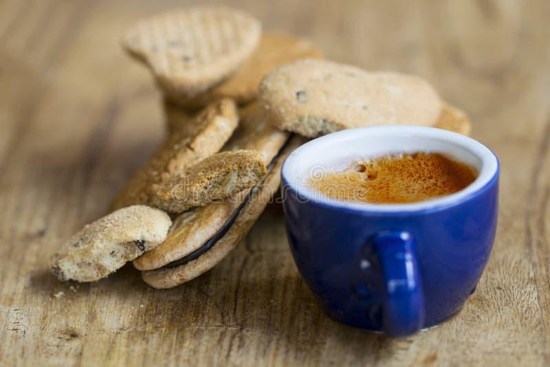 Galletas del café y del salvado del café express foto de archivo