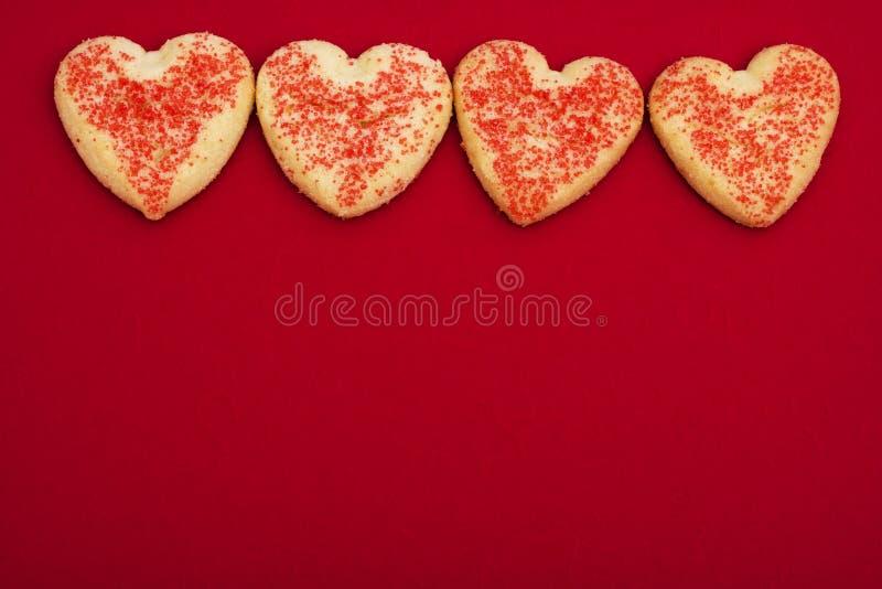 Galletas del corazón fotografía de archivo
