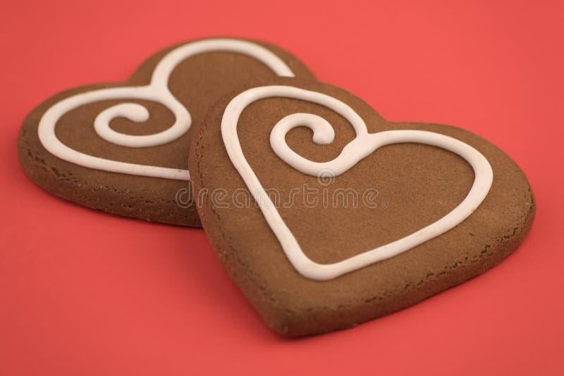 Galletas del corazón del amor imagen de archivo libre de regalías