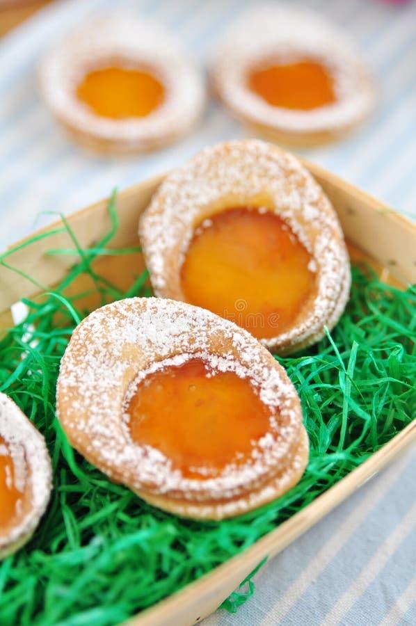Galletas del huevo de Pascua fotos de archivo