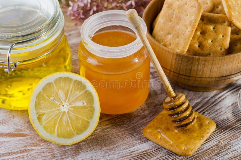 Galletas del limón y de la miel imagen de archivo