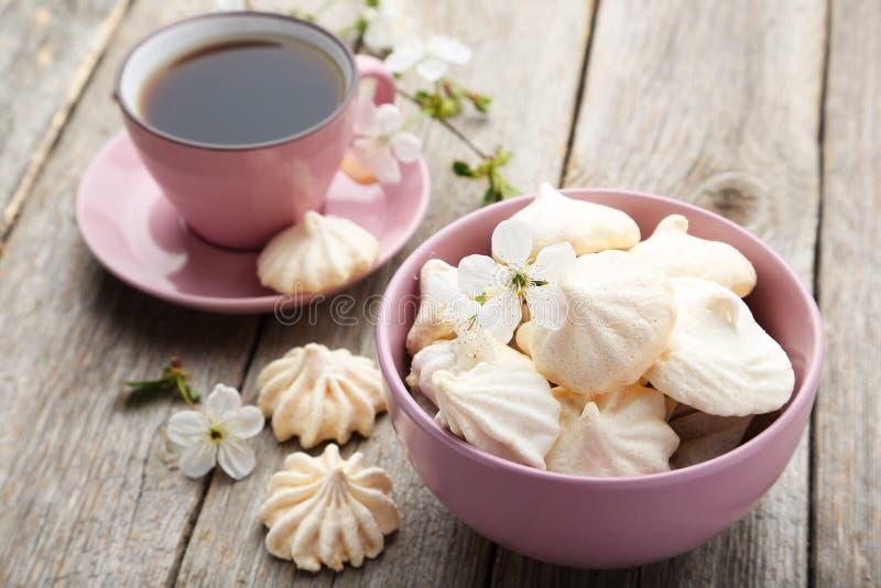 Galletas del merengue imagen de archivo