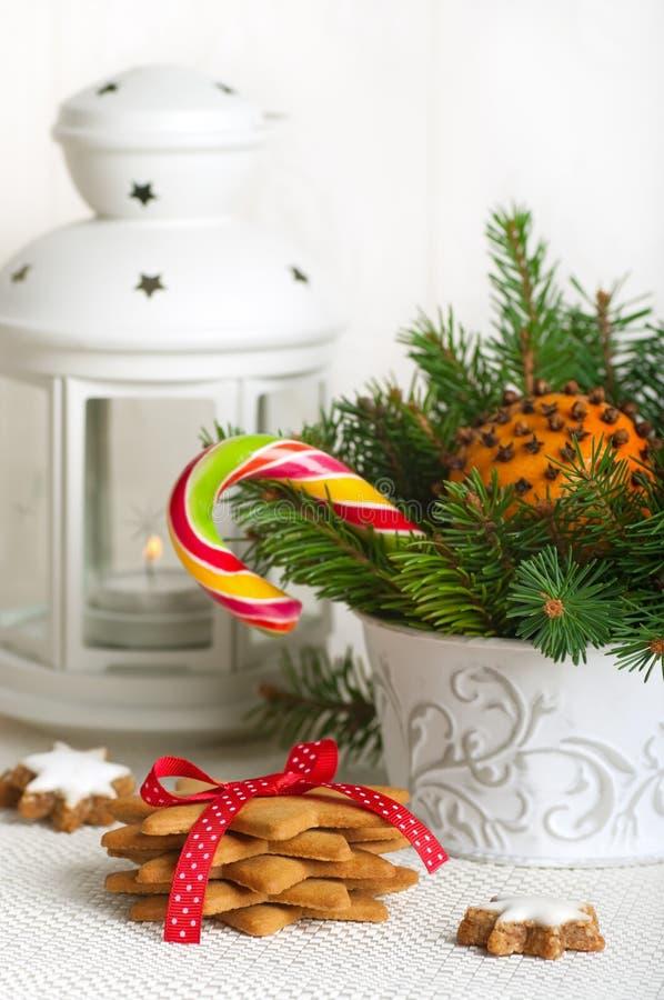 Galletas del pan de jengibre de la Navidad fotos de archivo libres de regalías