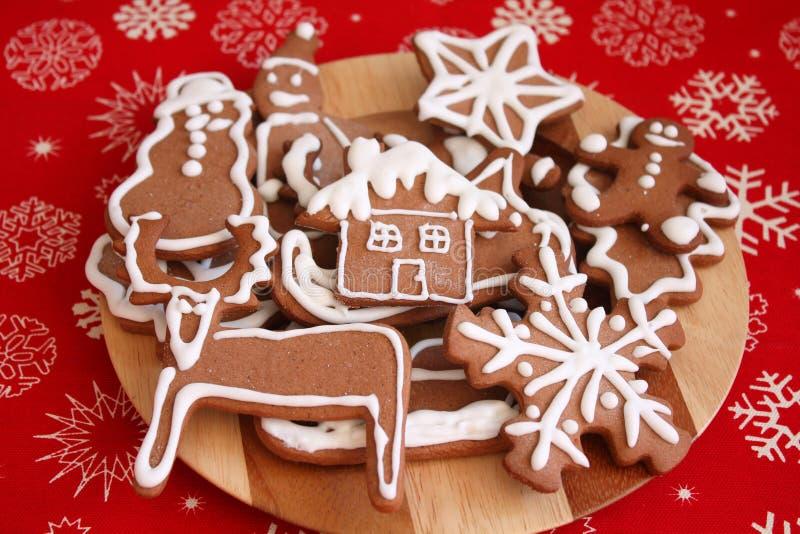 Galletas del pan de jengibre de la Navidad fotografía de archivo libre de regalías