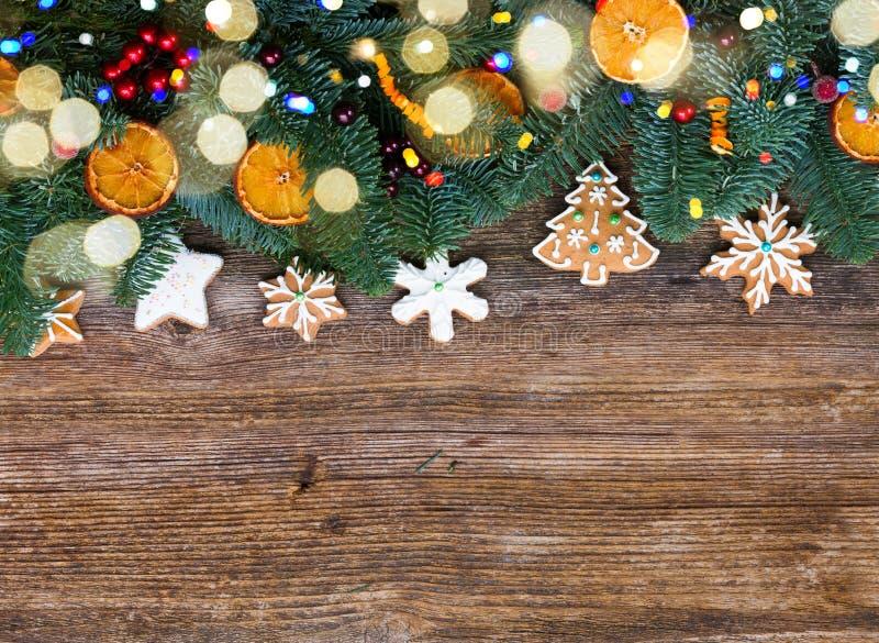 Galletas del pan de jengibre de la Navidad fotografía de archivo