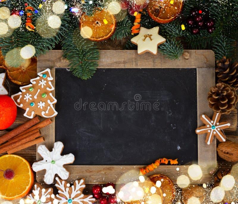 Galletas del pan de jengibre de la Navidad imagenes de archivo