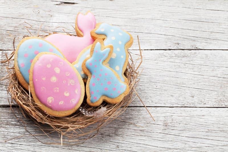 Galletas del pan de jengibre de Pascua imagen de archivo libre de regalías