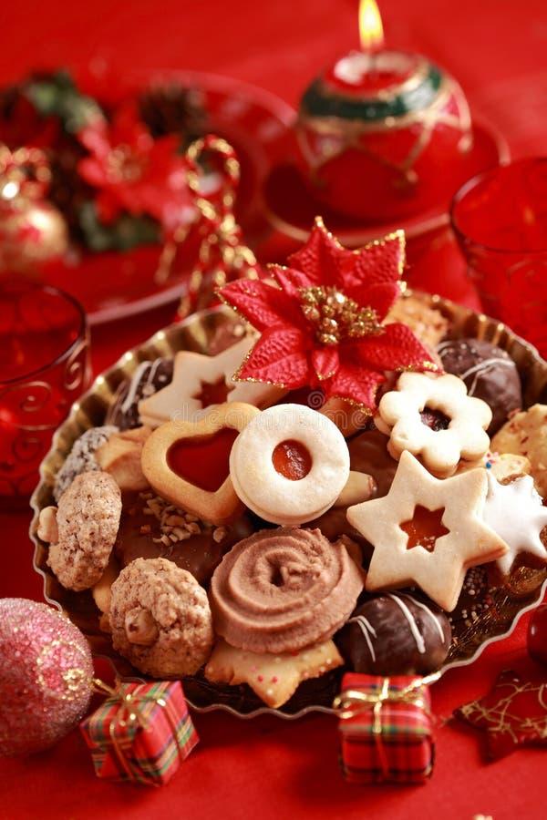 Galletas deliciosas de la Navidad imagen de archivo