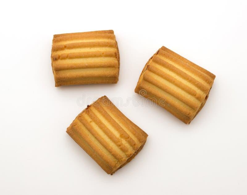 Galletas dulces aisladas imagen de archivo