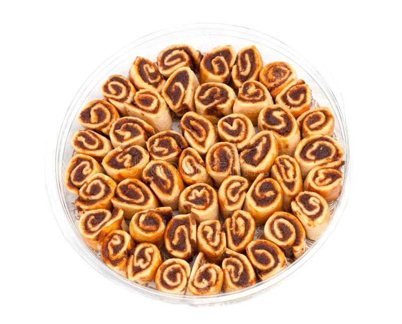 Galletas dulces en una caja fotografía de archivo