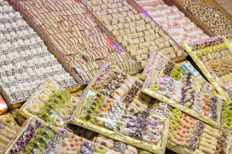 Galletas en un mercado en Marruecos imágenes de archivo libres de regalías
