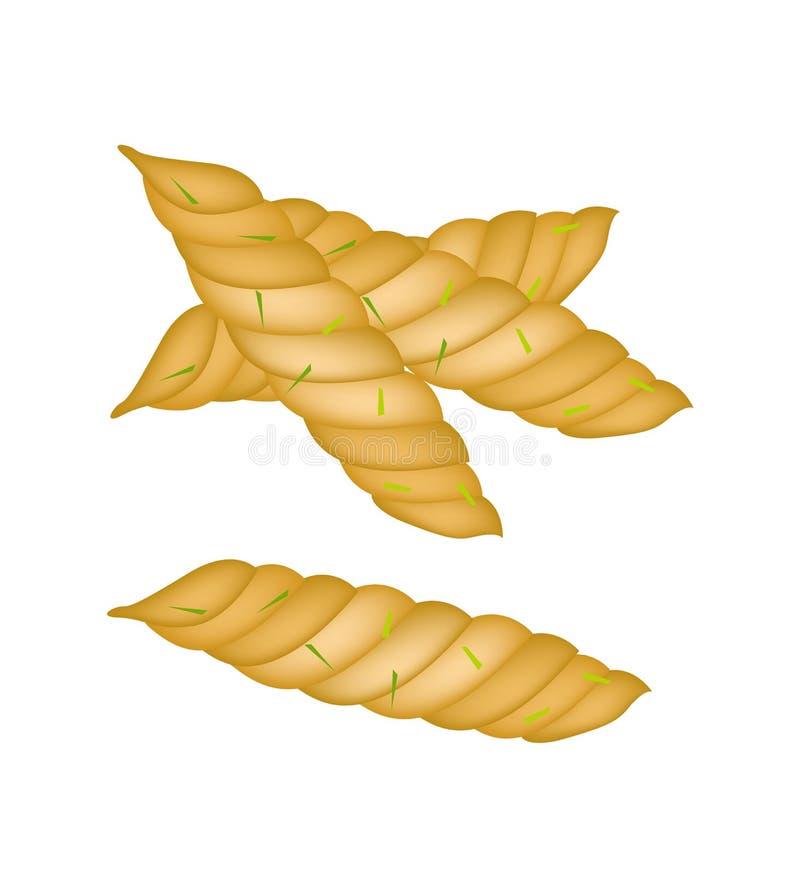 Download Galletas Espirales Tailandesas Deliciosas En El Fondo Blanco Ilustración del Vector - Ilustración de trazado, arte: 41920856