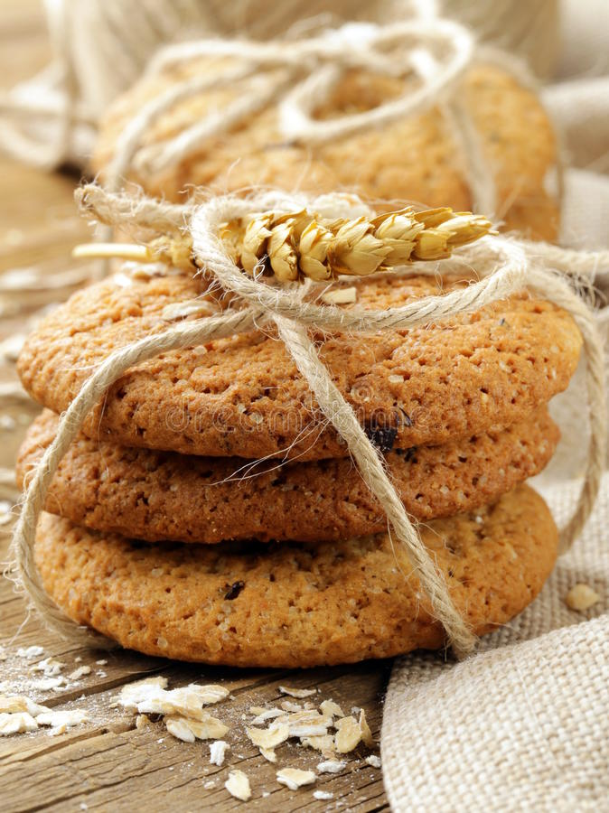 galletas de harina de avena hechas en casa fotografía de archivo