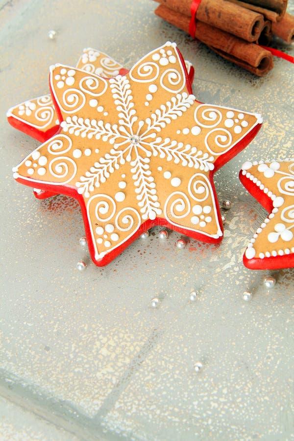 Galletas hermosas de la Navidad imagen de archivo