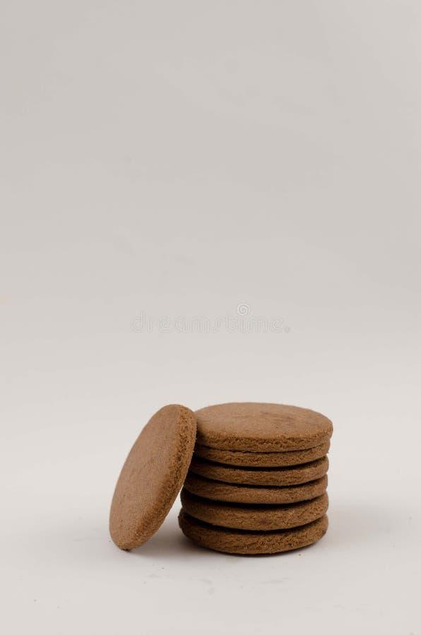 Galletas llanas del chocolate foto de archivo
