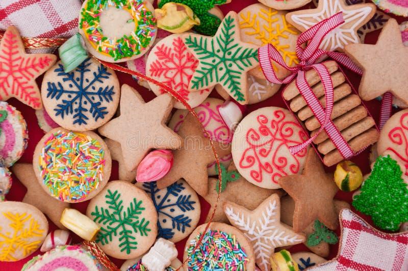 Galletas mezcladas de la Navidad imágenes de archivo libres de regalías