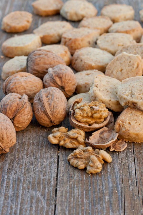 Galletas Nuts foto de archivo