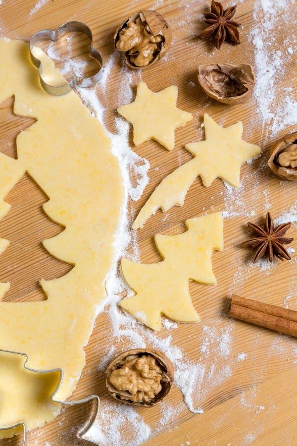 Galletas para la Navidad foto de archivo