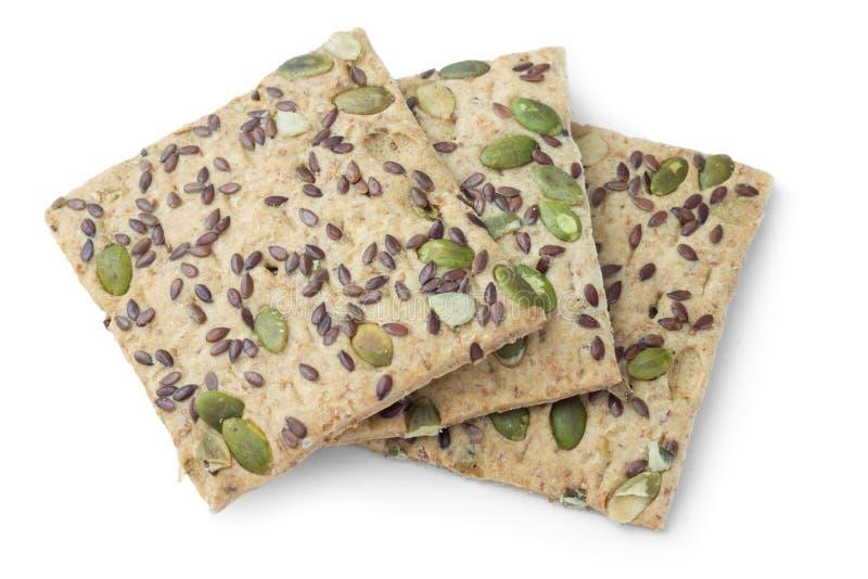 Galletas sin azúcar con las semillas de calabaza, comida diabética imagen de archivo libre de regalías