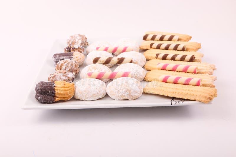 Galletas, tortas y caramelos imágenes de archivo libres de regalías