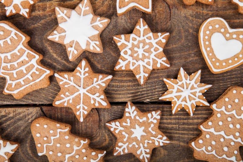 Galletas y la Navidad del reno del pan de jengibre imagen de archivo