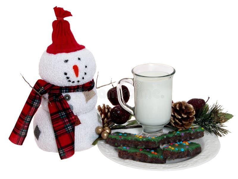 Galletas y leche para Santa foto de archivo