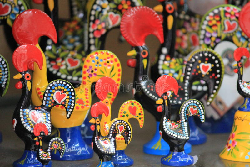 Galli ceramici tradizionali fotografia stock libera da diritti