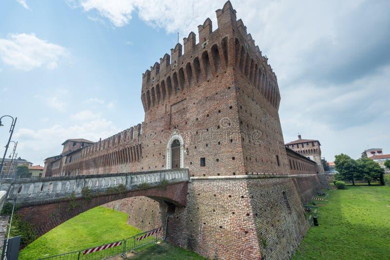 Galliate, Castle. Galliate (Novara, Piedmont, Italy), the castle known as Castello Sforzesco stock photos