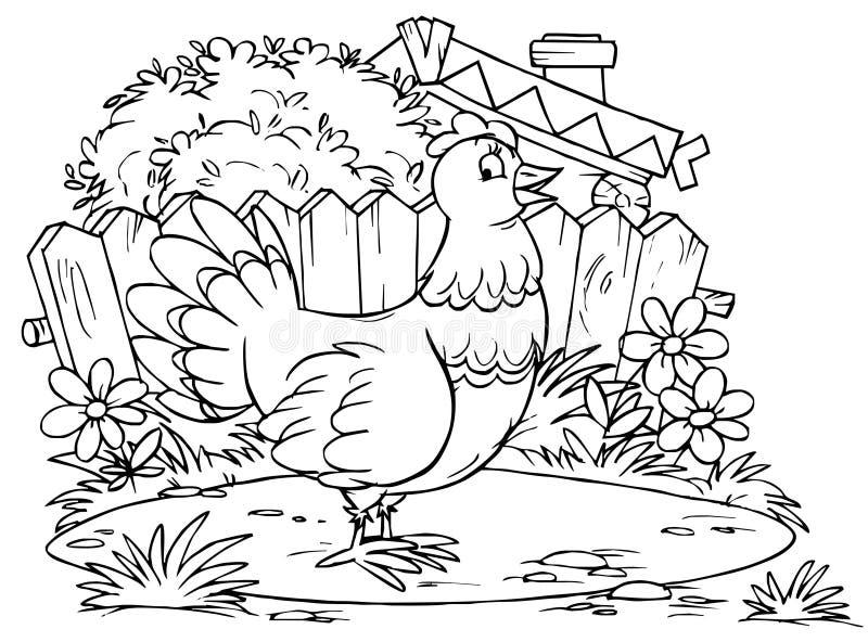 Gallina stock de ilustración
